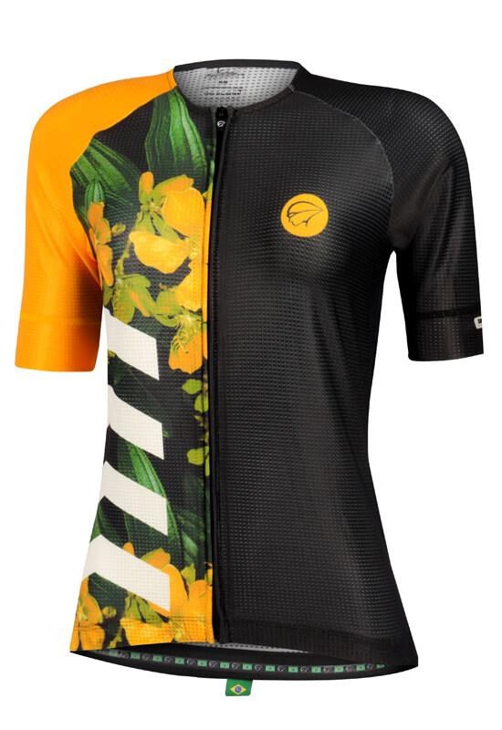 Camisa Ciclismo Feminina Bloom_Amarela