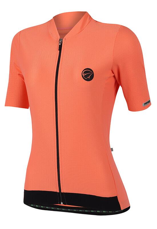 Camisa Ciclismo Feminina Fiber Coral
