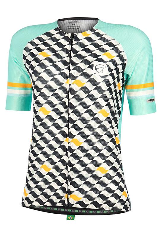 Camisa Ciclismo Feminina Flow_Verde