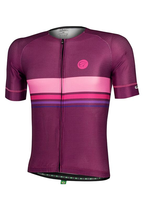 Camisa Ciclismo Masculina Horizon_Roxa