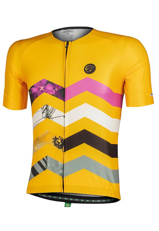 Camisa Ciclismo Masculina Summit_Amarela